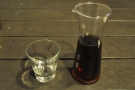 However, I was after a pour-over, served here is a long-necked carafe, glass on the side.