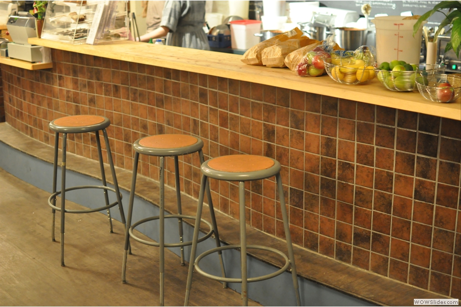 You can also perch at the counter on these bar stools if you like.