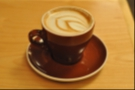 My friend Adam had this very fine (non-vegan) cappucino in another fine-looking cup