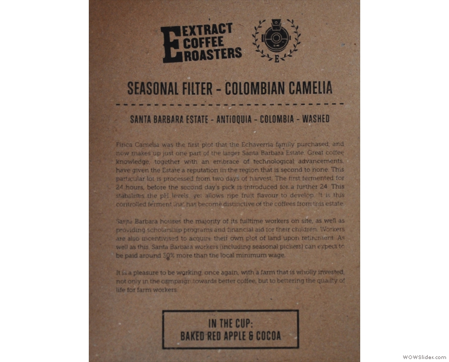 For filter, there are guests, plus Extract's seasonal filter blend, which is also available...