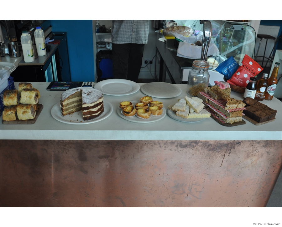 There's also an excellent array of cake which greets you as you arrive at the counter.
