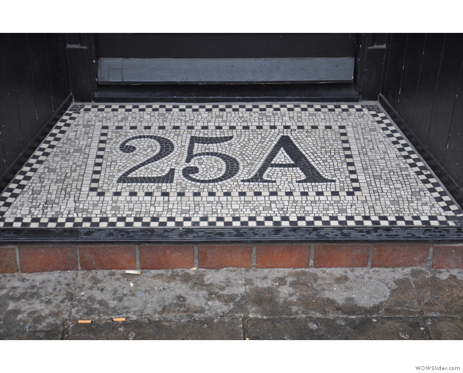 Lovely, tiled threshold.