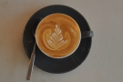 Check out the latte art...