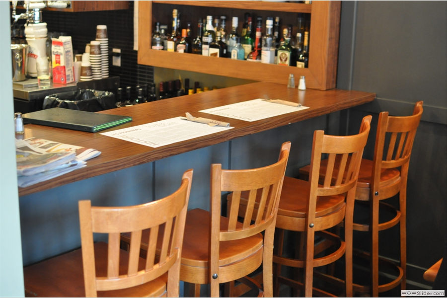 If tables aren't your thing you can perch on a bar chair at the end of the counter...