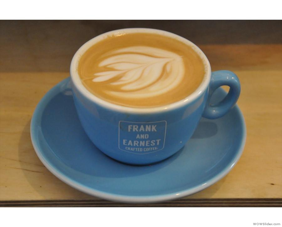 My favourite flat white was a single-origin Kenyan from Frank & Earnest.