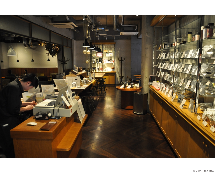 Stepping through, you begin to realise the fulll extent of Maruyama Coffee.