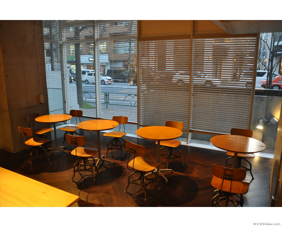 ... and these four, small round tables in the windows at the front.