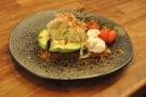 ... and my lunch, avocado on toast, with lots of extras!