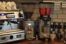 Meanwhile there are two grinders for espresso, the house-blend (North Star) and the guest...