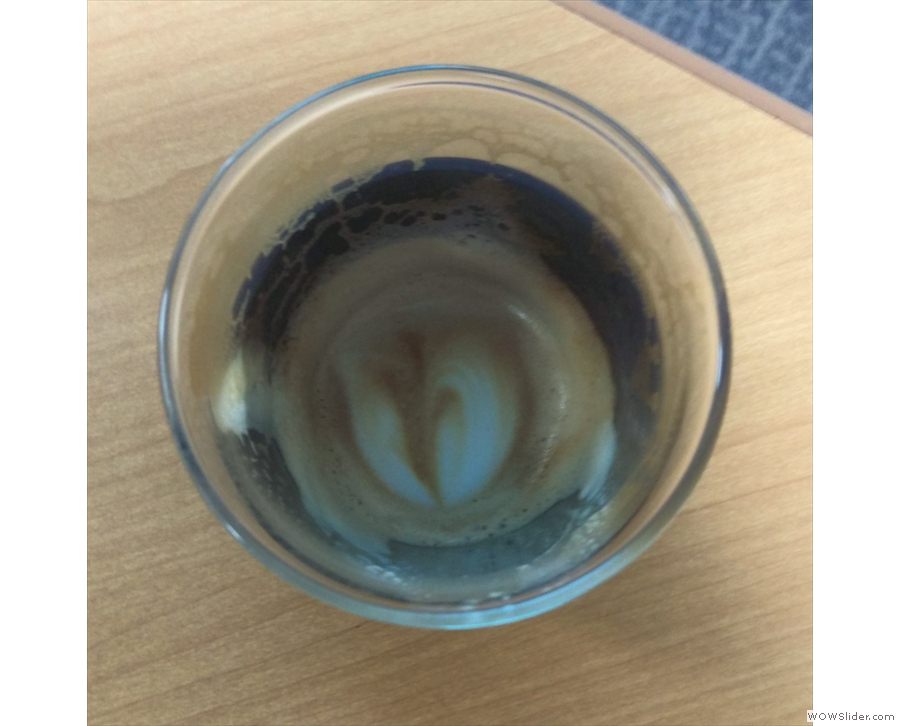 ... which survived all the way to the bottom of the cup.