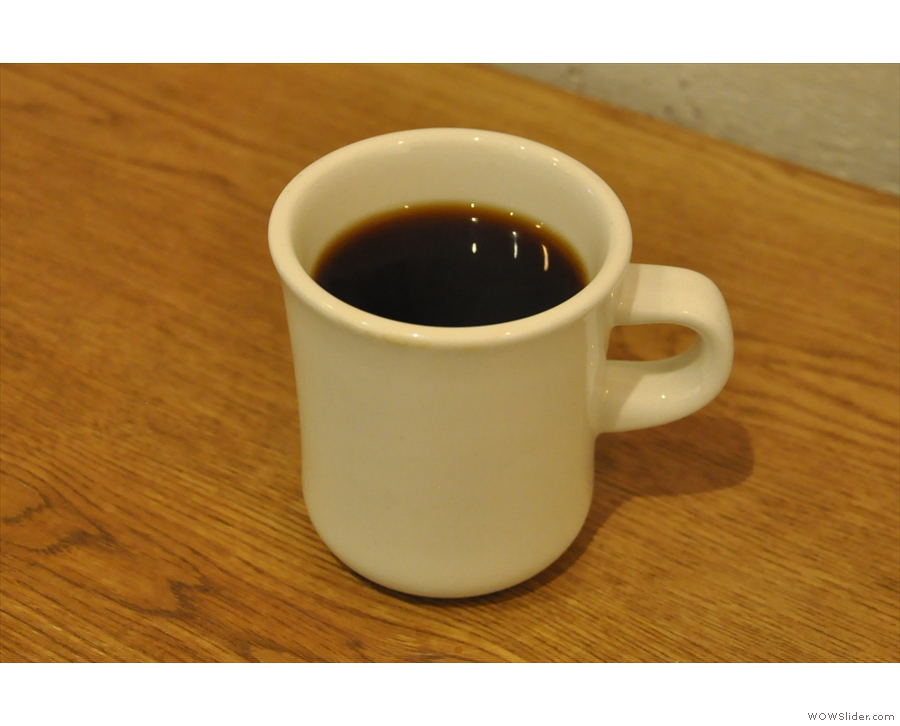 ... and transfering to a mug to serve.