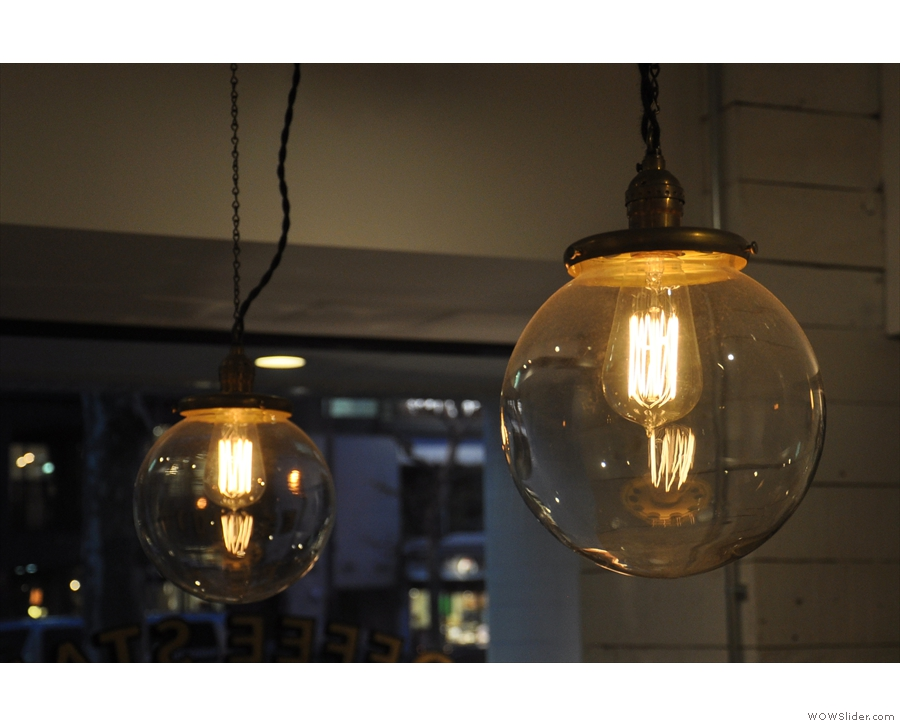 There's not a lot of natural light inside The Local, so these lights were a welcome addition.