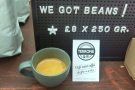 The new  Mele & Pere espresso blend, a 50/50 mix of Guatemalan/Brazil, roasted in Italy.