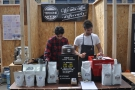 Two men (Leo & Luca) and their coffee. In this case, Terrone coffee, roasted in Italy.