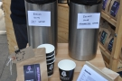 ... but using different water. One, Cumbrian water, the other, mineralised water for coffee.