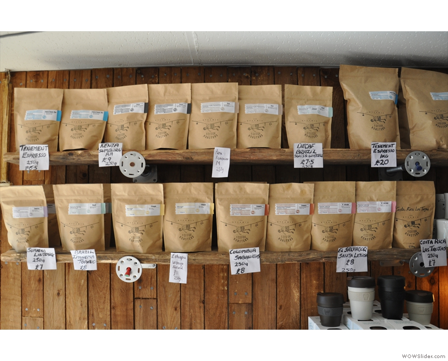 The Steamie roasts all its own coffee now and has an extensive selection for sale.