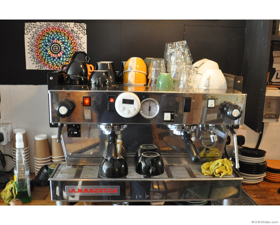 ... where this two-group La Marzocco takes centre stage.