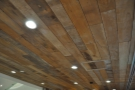 I was also very taken by the lovely, wooden ceiling.