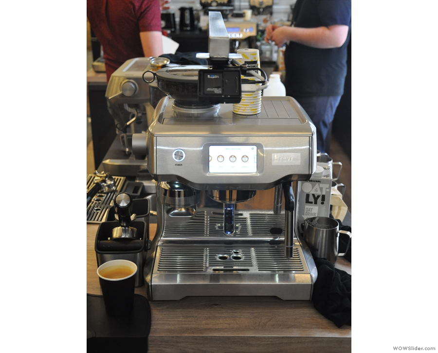 However, this was the latest in the range, a fully automated espresso machine...