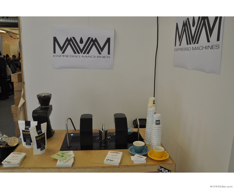 I also saw the Mavam modular espresso system at last year's festival, back again this year.