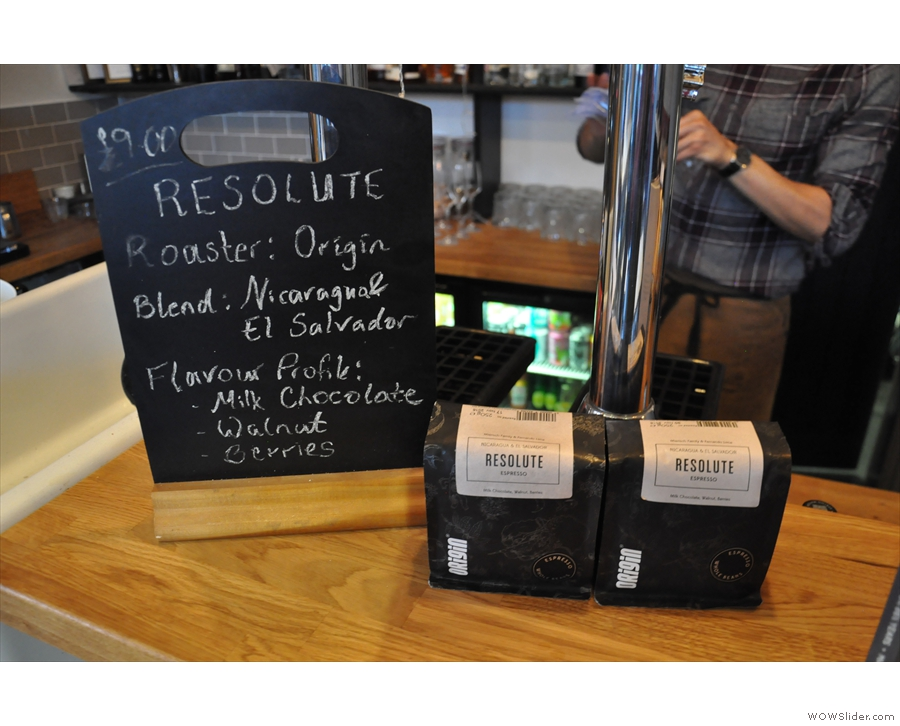 The Resolute blend from Origin was on while I was there...