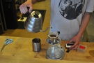 Everything (espresso and filter) is weighed and timed in Barefoot.
