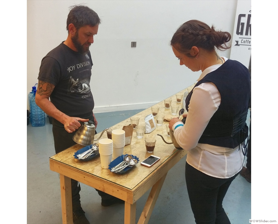 ... who ran the cupping for me. Angharad, of Carvetii, also stepped in to help.