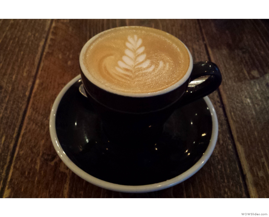 ... and a rather lovely flat white.