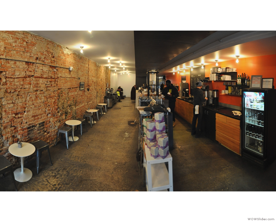 Beyond that Chinatown Coffee Co is equally split between seating (left) and counter (right).