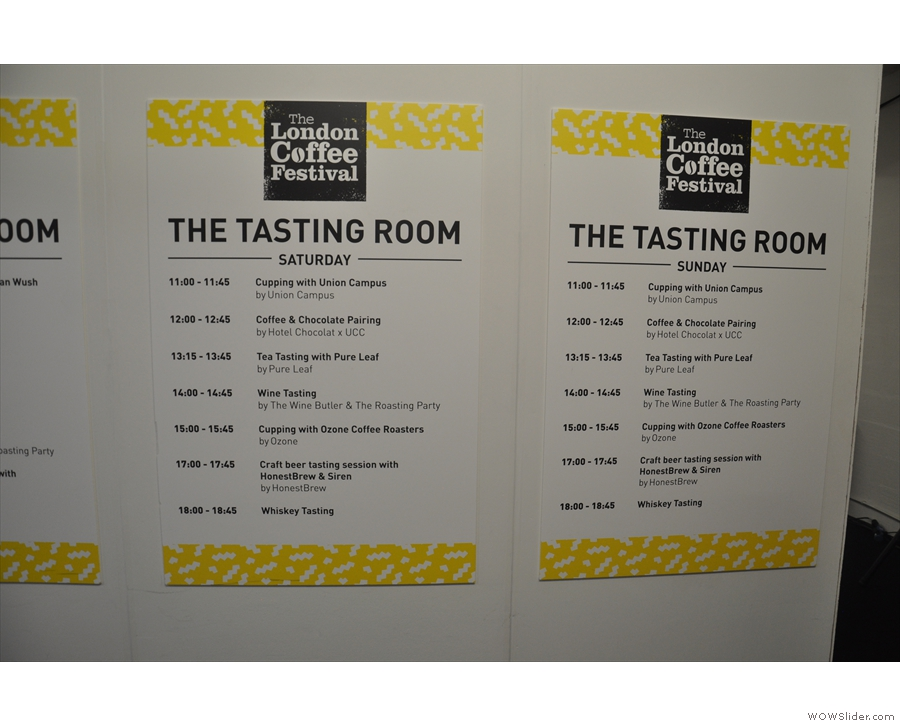 The London Coffee Festival was going all out on coffee experiences this year.