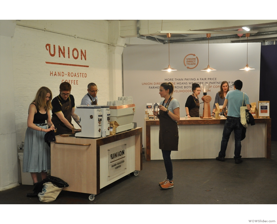 As usual, Union Hand-roasted was out in force at the festival...