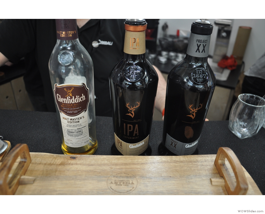 It's quite a simple concept: take three whiskies (from distiller, Glenfiddich)...