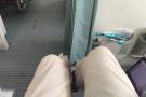Behold, my legroom! I do like bulkhead seats.