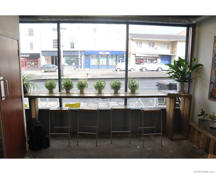 Alternatively, you can sit at the window-bar and watch the world go by outside.