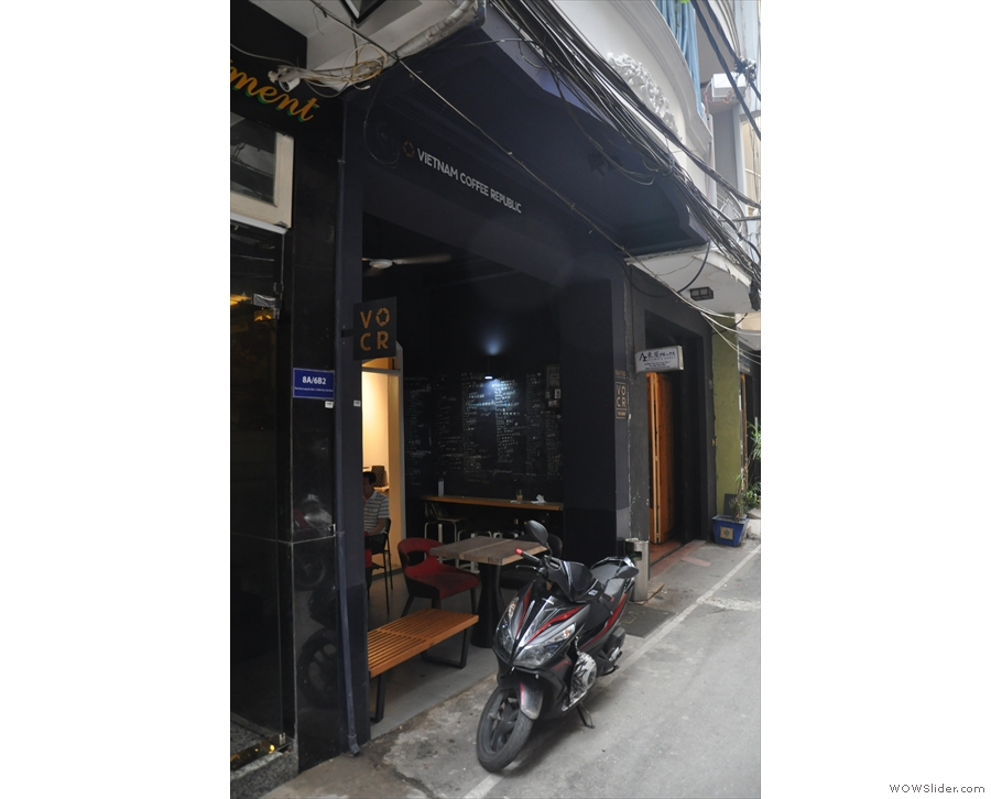 On a narrow alley way in the centre of Ho Chi Minh City you'll find this little place.
