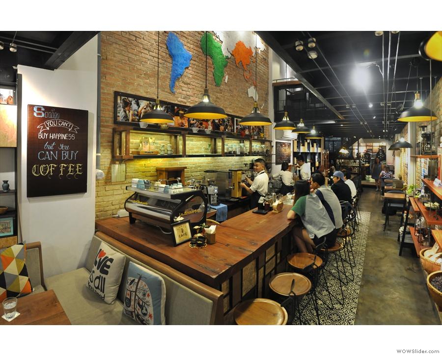 Talking of roasters, my final stop was Shin Coffee's second branch, it's roastery...