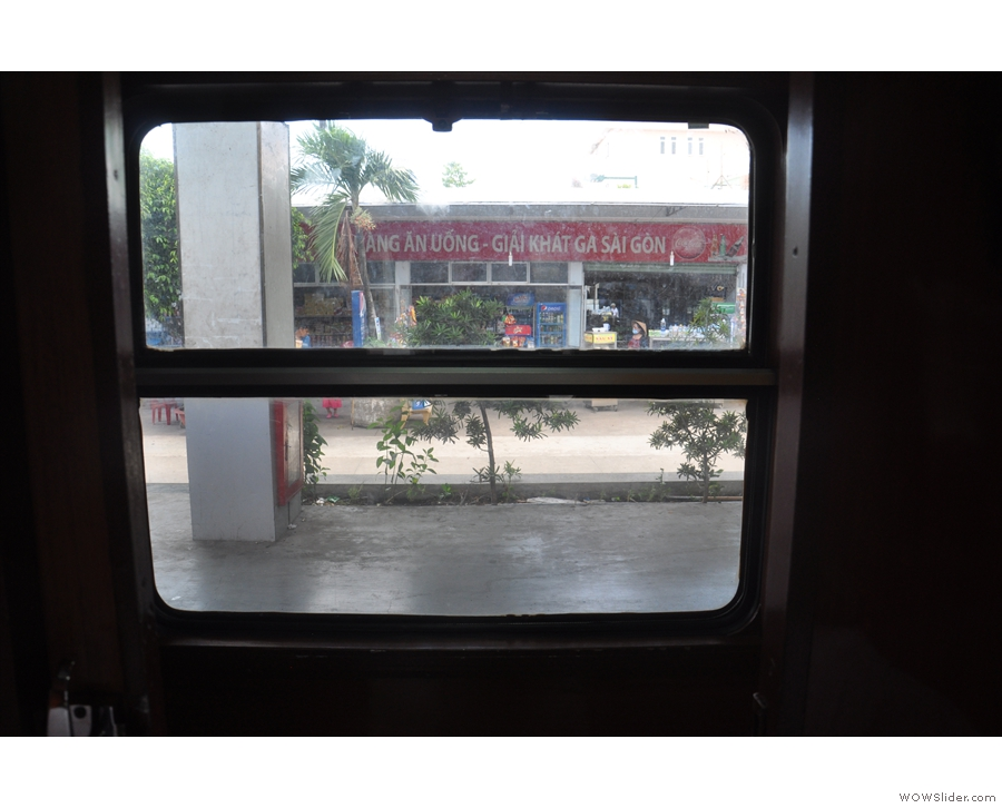 The view from the corridor window (in Ho Chi Minh City).