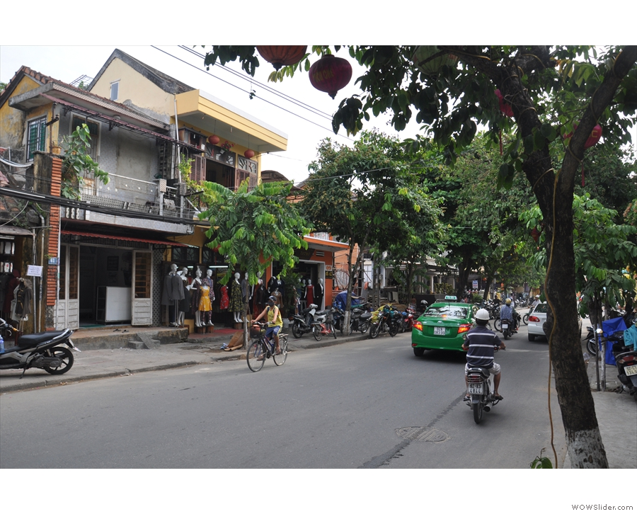 On a busy street in Hoi An, there doesn't seem too much of a sign of a coffee shop...