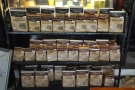 Mia Coffee is a roaster as well as a coffee shop. There are retail shelves at the back...