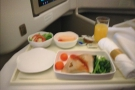 It was a short (1h 40m) flight, although we did get dinner (sorry for the poor photo).