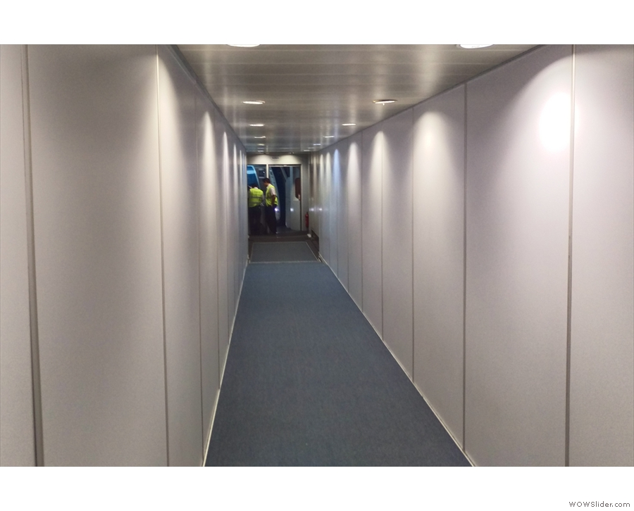 This may be my favourite thing: in economy, 20 people would be queuing in this corridor!