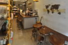 A panoramic view from just inside the door. There's not a lot to The Caffinet.
