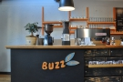 The espresso end of the operation is at the front, with the machine & a pair of grinders.