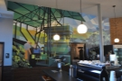Another thing that La Colombe is famous for is its murals. Each store has one.