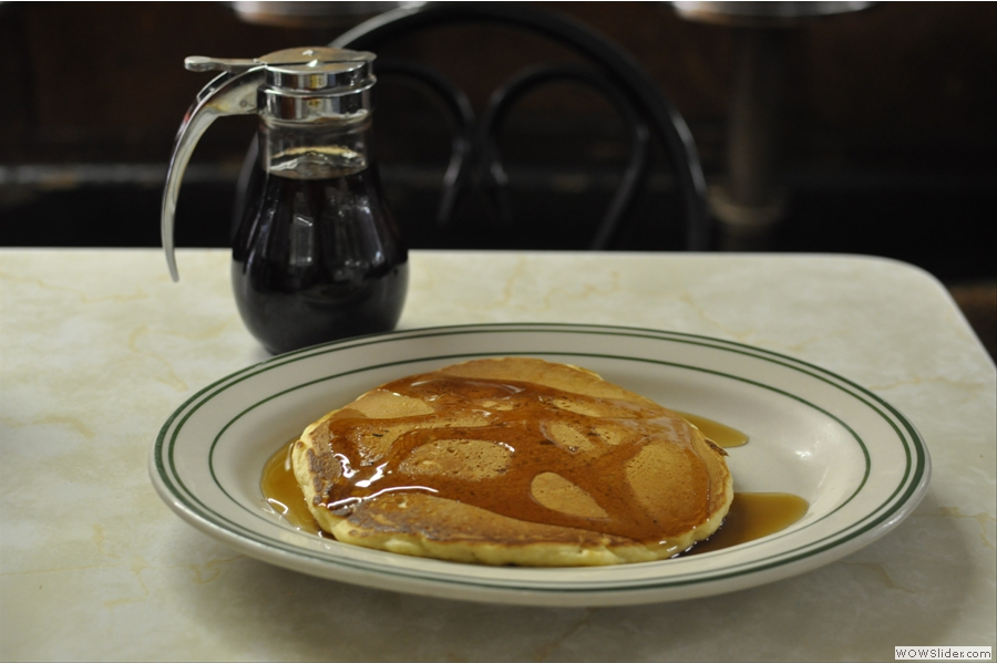 .. and a griddle cake on the side, smothered with maple syrup of course!