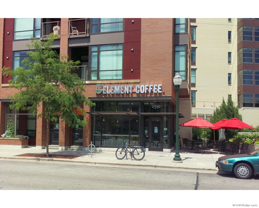 On a bright, south-facing spot on Madison's University Avenue, is 5th Element Coffee.