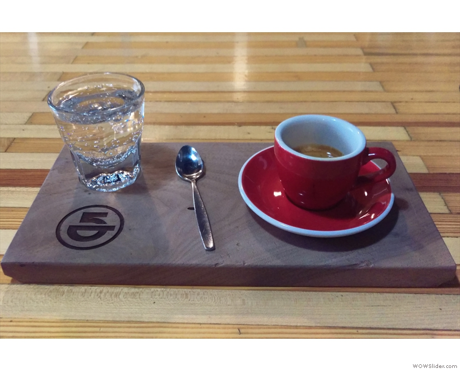 ... which produced this, an espresso, made with a Finca Esparanza from El Salvador.