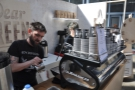 This is Ant, from London's Black Chapel, making my coffee. He also ran my coffee cupping.