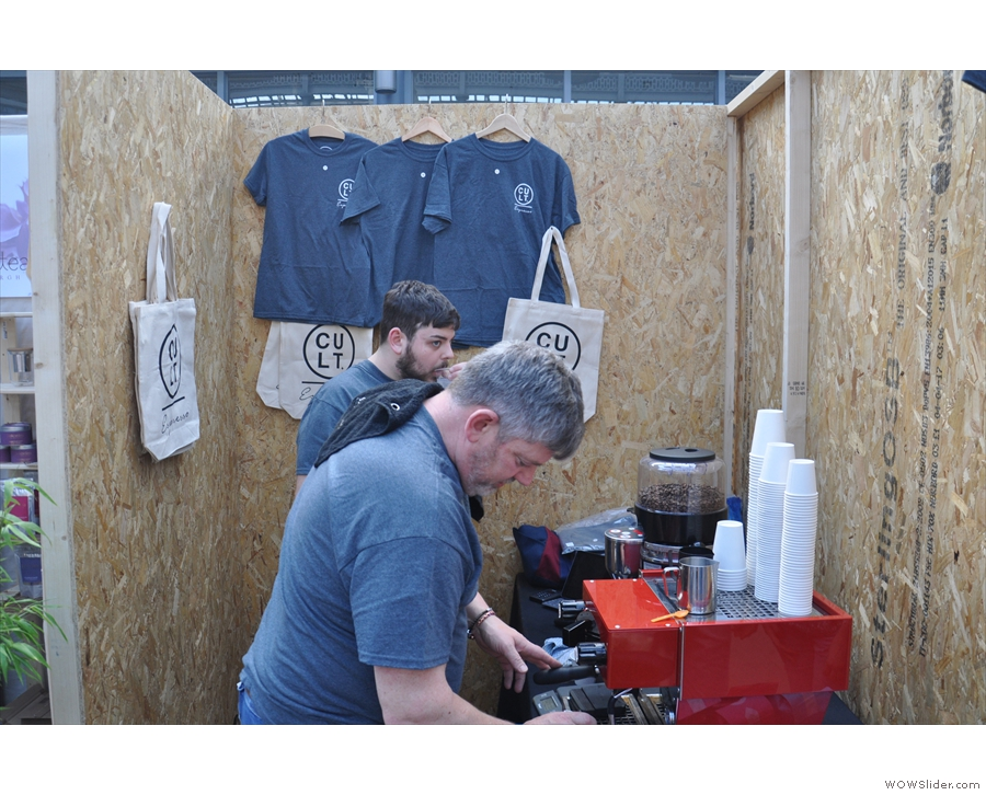 Still with old friends from Edinburgh, here's Cult Espresso, taking over the pop-up cafe...