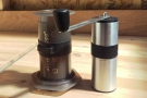 Look how small it is: the same size as an Aeropress! In fact, it's a little smaller...